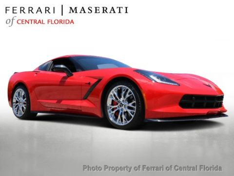 Pre-Owned 2016 Chevrolet Corvette 2dr Stingray Z51 Coupe w/3LT Rear Wheel Drive Coupe