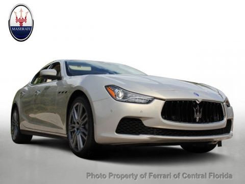 New 2017 Maserati Ghibli 3.0L Rear Wheel Drive Sedan