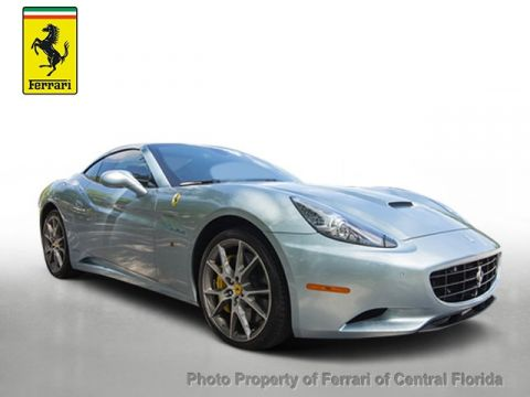 Certified Pre-Owned 2012 Ferrari California 2dr Convertible Rear Wheel Drive Convertible